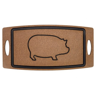 Epicurean BBQ Board - Etched Pig w/Juice Groove