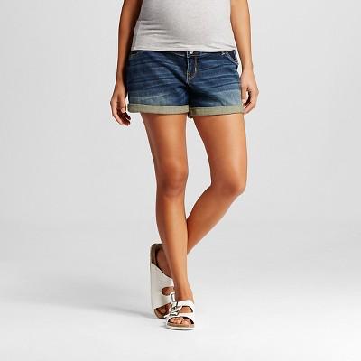 Maternity Inset Under the Belly Jean Shorts - Medium Wash M - Liz Lange® for Target