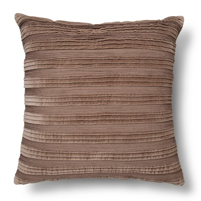 Velvet Texture Throw Pillow - Gray – Threshold™