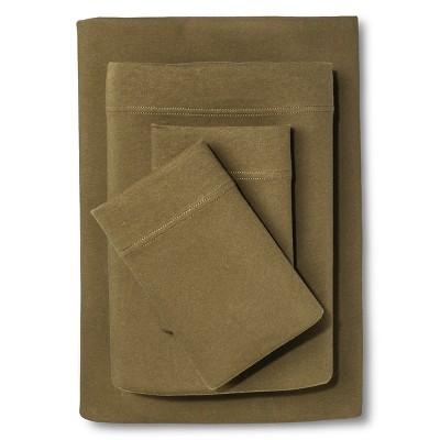 Jersey Sheet Set Natural Green (Twin) - Room Essentials™