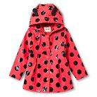 Toddler Girls' Ladybug Raincoat -Red