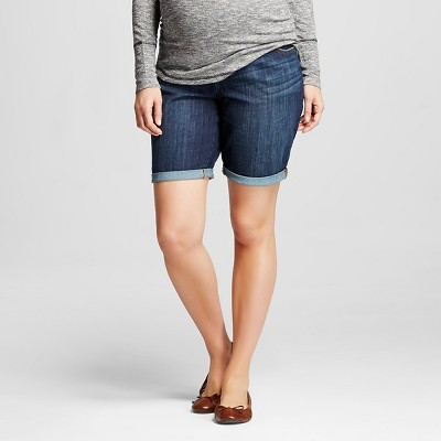 Maternity Over the Belly Bermuda Jean Short - Dark Wash M - Liz Lange® for Target