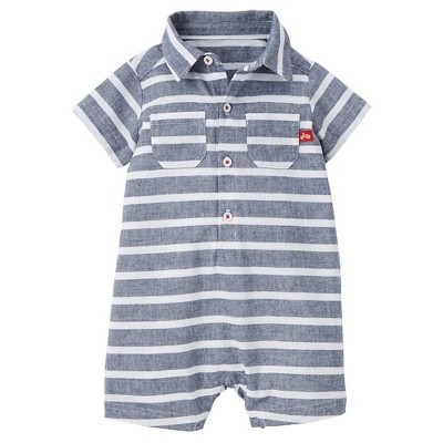 Just One You™Made by Carter's®  Newborn Boys' Chambray Stripe Romper - Indigo Blue NB