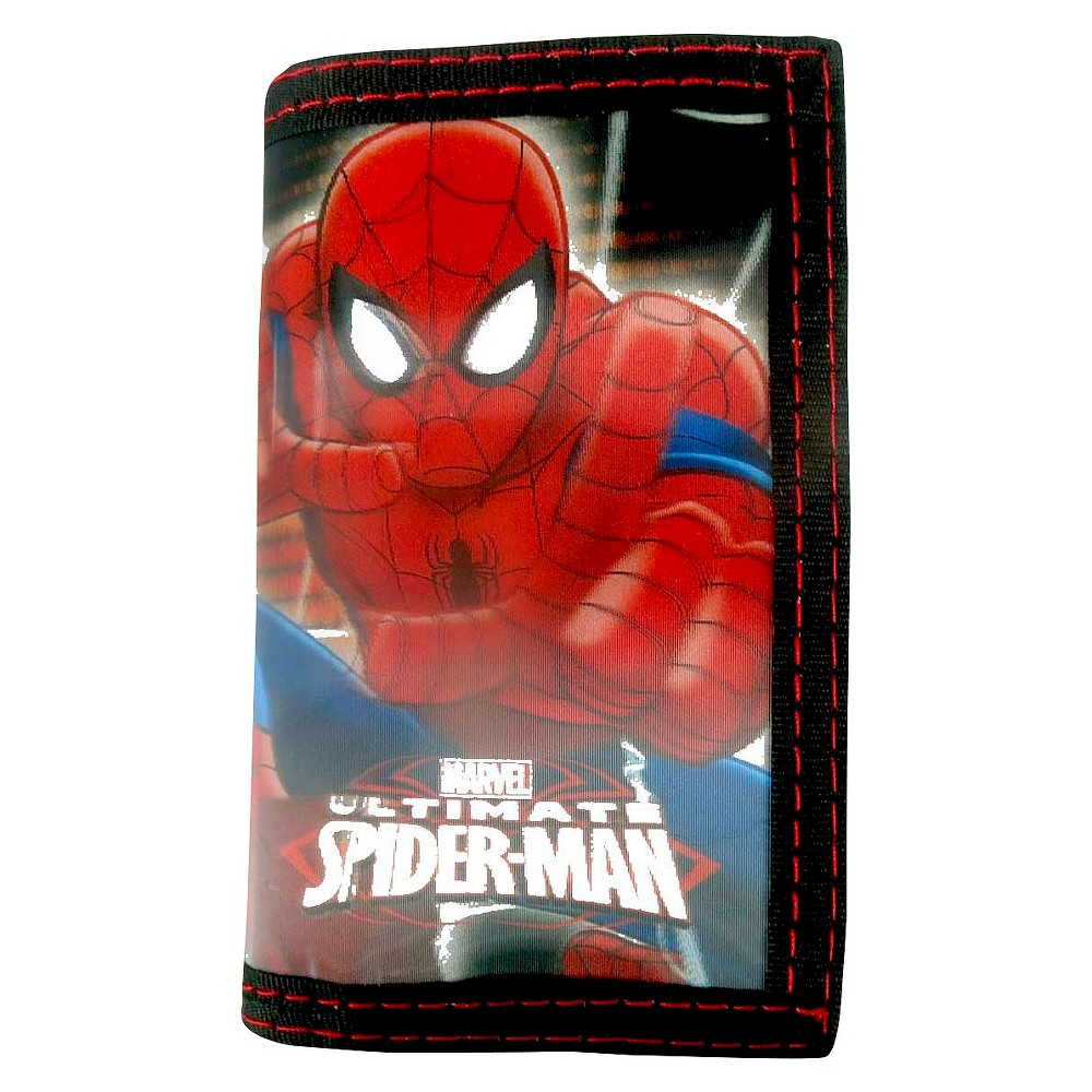 Marvel Spiderman Boys' Trifold Wallet - Red, Boy's, Red Sign
