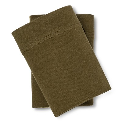 Jersey Pillowcase Set Natural Green (Standard) - Room Essentials™