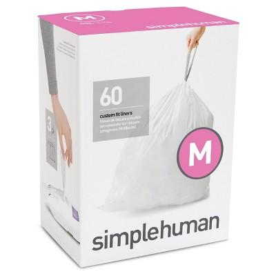 simplehuman 60-Pack Code M Custom Fit Trash Can Liner