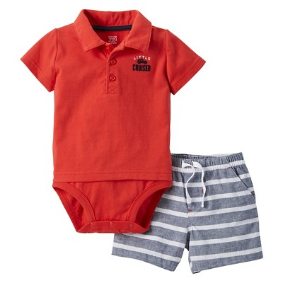 Just One You™Made by Carter's®  Newborn Boys' 2 Piece Sets - Red/Grey 3M