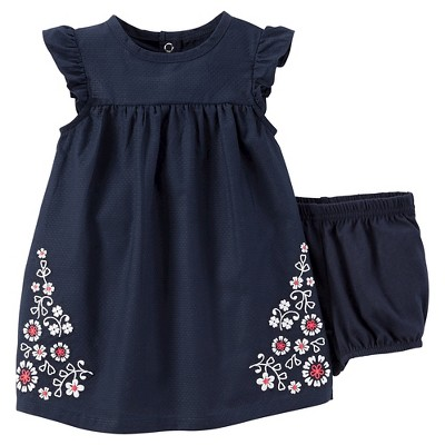 Just One You™Made by Carter's®  Newborn Girls' Dress Set - Navy 3M