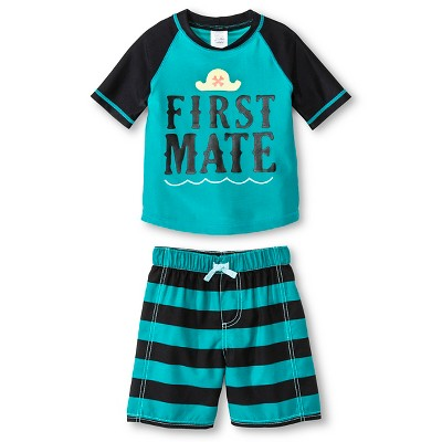 Just One You™ Made by Carter's® Boys' First Mate Rash Guard Swimsuit Set 12M