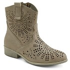 Girls' #YEEHAW Perforated Cowboy Boots - Taupe