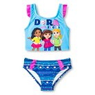 Toddler Girls' Dora and Friends One Piece Swimsuit -Blue