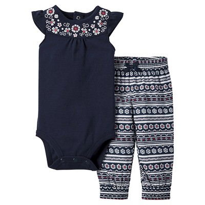 Just One You™Made by Carter's®  Newborn Girls' 2 Piece Sets - Oxford Blue/Multi 3M