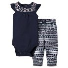 Just One You™Made by Carter's®  Newborn Girls' 2 Piece Sets - Oxford Blue/Multi