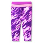 Girls' Printed Performance Yoga Capri Purple - C9 Champion®