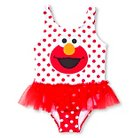 Sesame Street Elmo Baby Girls' 1-Piece Tutu Swimsuit - Red