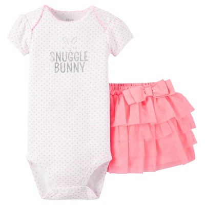 Just One You™Made by Carter's® Baby Girls' Snuggle Bunny Tutu Set - Neon Pink NB