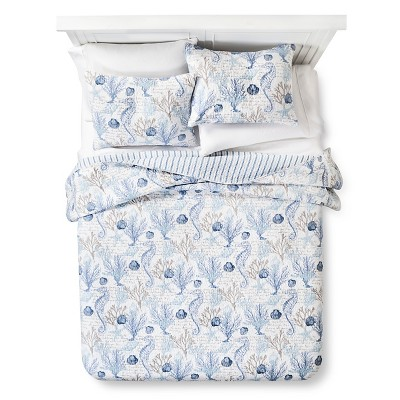 homthreads™ Pismo Beach Quilt and Sham Set - Blue (Queen)