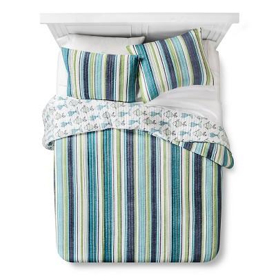 homthreads™ Dana Point Quilt and Sham Set - Blue (King)