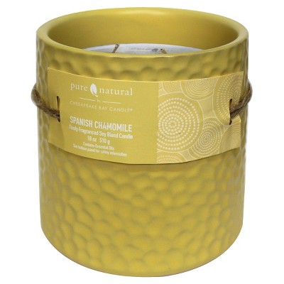 Pure & Natural™ Ceramic Jar Candle Spanish Chamomile - Large