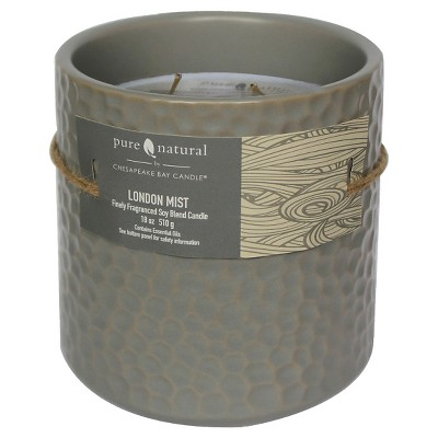 Pure & Natural™ Ceramic Jar Candle London Mist - Large