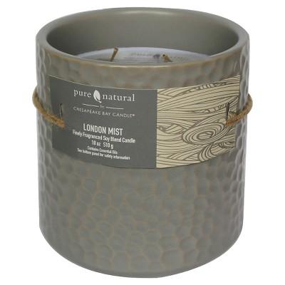 Pure & Natural™ Ceramic Jar Candle London Mist - Large