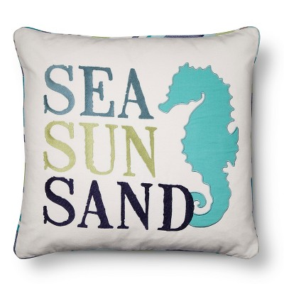 "Dana Point Sea Sun Sand Pillow(20""x20"") White - homthreads™"