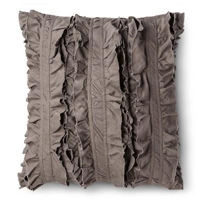 """Script Ruffle Pillow (16""""x20"""") Grey - homthreads™"""