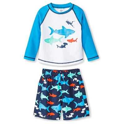 Just One You™ Made by Carter's® Boys' Shark Rash Guard Swimsuit Set 9M