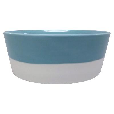 Stoneware Teal Pet Bowl L - Boots & Barkley™