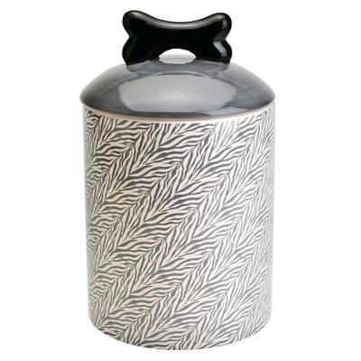 Pet Food Storage Container Housewares Intl White Black Ceramic