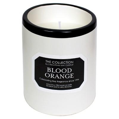 The Collection™ Asymmetrical Ceramic Jar Candle Blood Orange - Black/White