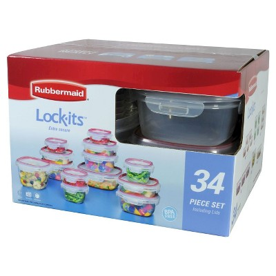 Rubbermaid Lock-its Food Storage Container Set, 34-piece