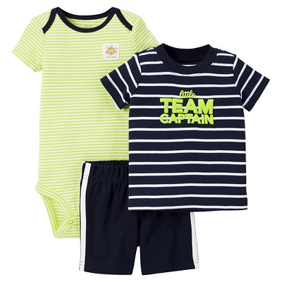 Just One You™Made by Carter's® Baby Boys' 3pc Team Captain Set - Navy/Lime NB