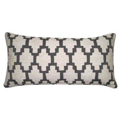 Threshold Gray Applique Lumbar Decorative Pillow
