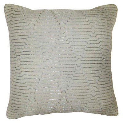Threshold Zari Emroidery Decorative Pillow - Silver