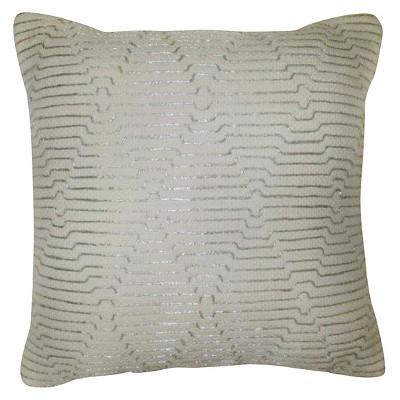 Threshold™ Silver Zari Embroidered Pillow