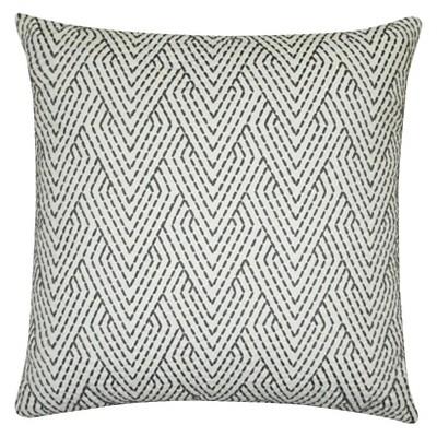 Threshold Gray Emroidery Pillow