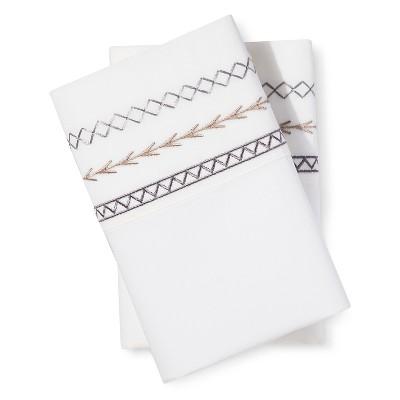 Mudhut™ Embroidered Pillow Case Set - Grey - King