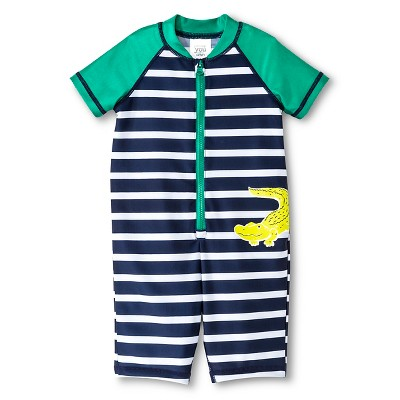 Just One You™ Made by Carter's® Boys' Striped Rash Guard Swimsuit Set 12M