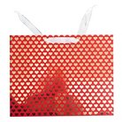 Large Vogue Bag - mini gold hearts on red