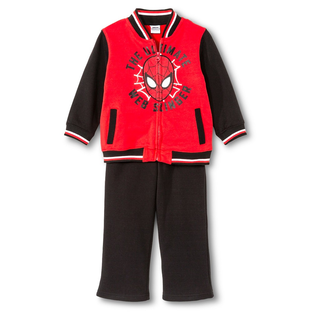 Toddler Boys' Spiderman Top And Bottom Set - Red 3T, Toddler Boy's