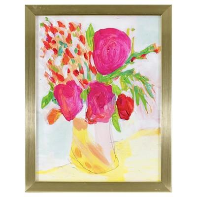 "Oh Joy!®Floral Framed Wall Art - 13"" x 10"""