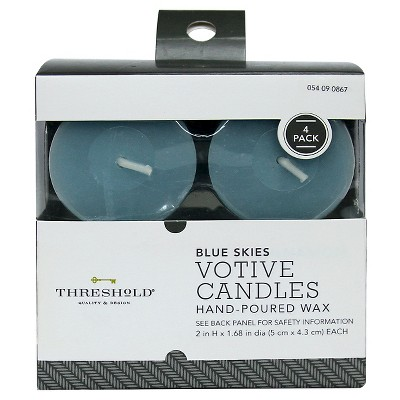 Threshold™ Votives Core - Light Blue (4pk)