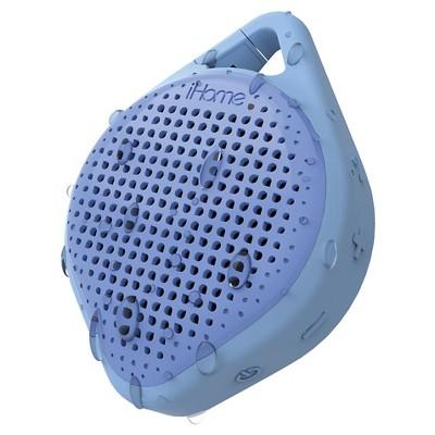 iHome Drop and Splash Proof Bluetooth Rechargeable Speaker with Speakerphone - Blue (iBT15LLC)