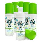 Babyganics Alcohol-Free On-The-Go Foaming Hand Sanitizer, Fragrance Free - 1.69oz Pump Bottle (6pk)