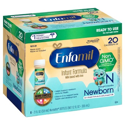 Enfamil Non-GMO Infant Baby Formula 6pk - 2oz