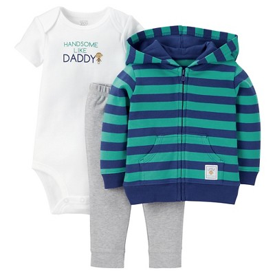 Just One You™Made by Carter's®  Newborn Boys' 3 Piece Sets - Blue/Multi  9M