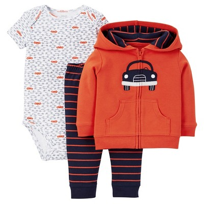 Just One You™Made by Carter's®  Newborn Boys' 3 Piece Sets - Orange/Multi 6M