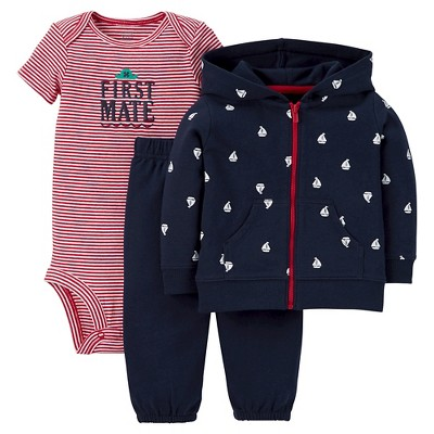 Just One You™Made by Carter's®  Newborn Boys' 3 Piece Sets - Navy/Red 3M