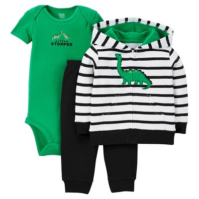Just One You™Made by Carter's®  Newborn Boys' 3 Piece Sets - Navy/Green 3M